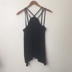 {Evereve} Strappy Black Flow Tank Top